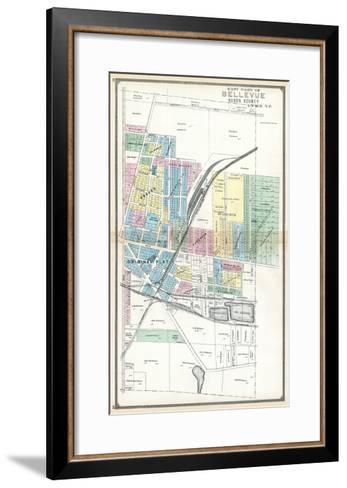 1891, Bellevue - East, Ohio, United States--Framed Art Print
