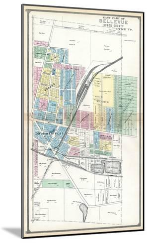 1891, Bellevue - East, Ohio, United States--Mounted Giclee Print