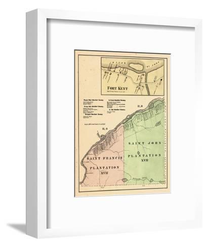 1877, Fort Kent, Saint Francis Plantation, Saint John Plantation, Maine, United States--Framed Art Print