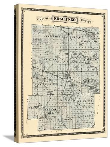 1876, Kosciusko County, Indiana, United States--Stretched Canvas Print