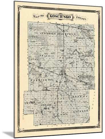 1876, Kosciusko County, Indiana, United States--Mounted Giclee Print