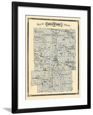 1876, Kosciusko County, Indiana, United States--Framed Art Print