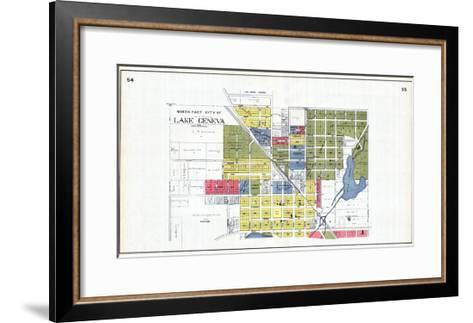 1921, Lake Geneva - North, Wisconsin, United States--Framed Art Print