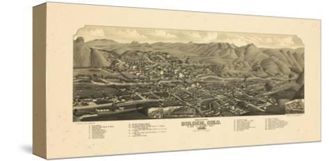 1882, Golden Bird's Eye View, Colorado, United States--Stretched Canvas Print
