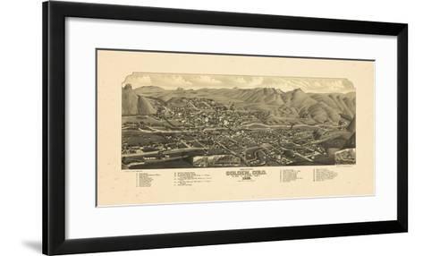 1882, Golden Bird's Eye View, Colorado, United States--Framed Art Print