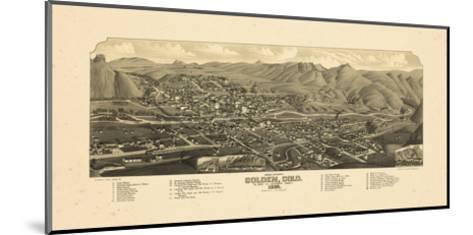 1882, Golden Bird's Eye View, Colorado, United States--Mounted Giclee Print