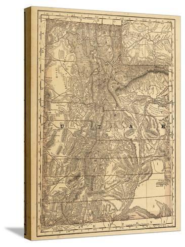 1876, Utah State Map, Utah, United States--Stretched Canvas Print