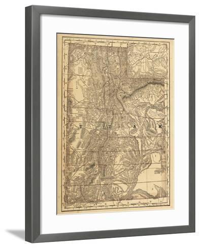 1876, Utah State Map, Utah, United States--Framed Art Print