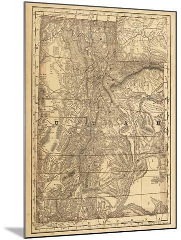 1876, Utah State Map, Utah, United States--Mounted Giclee Print