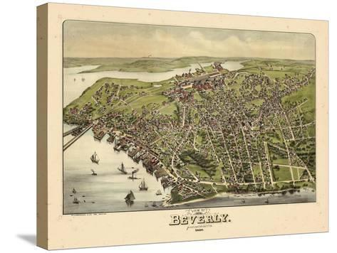1886, Beverly Bird's Eye View, Massachusetts, United States--Stretched Canvas Print