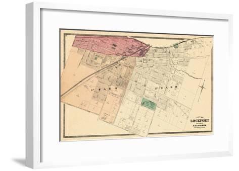 1875, Lockport City - South, New York, United States--Framed Art Print