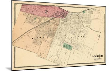 1875, Lockport City - South, New York, United States--Mounted Giclee Print