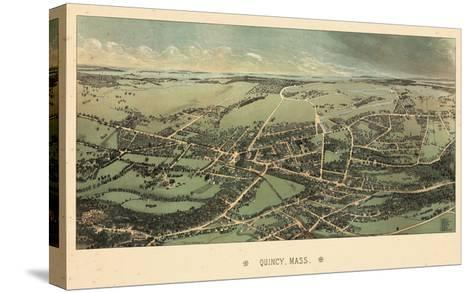 1877, Quincy Bird's Eye View, Massachusetts, United States--Stretched Canvas Print