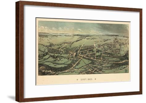 1877, Quincy Bird's Eye View, Massachusetts, United States--Framed Art Print