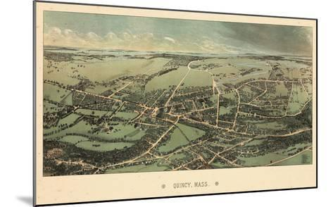 1877, Quincy Bird's Eye View, Massachusetts, United States--Mounted Giclee Print