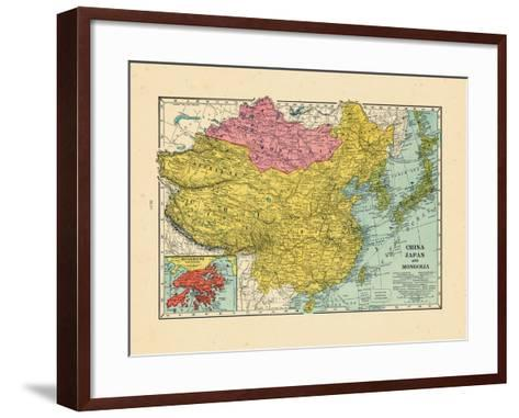 1925, China, Japan, Mongolia, North Korea, South Korea, Asia, China--Framed Art Print