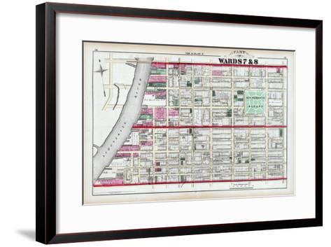 1875, Rittenhouse Square, Philadelphia, Pennsylvania, United States--Framed Art Print