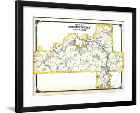 1875, Thornbury Township, Glen Mills P.O. Cheyney P.O., Thornton P.O. Mill Pond, Pennsylvania, Unit--Framed Art Print