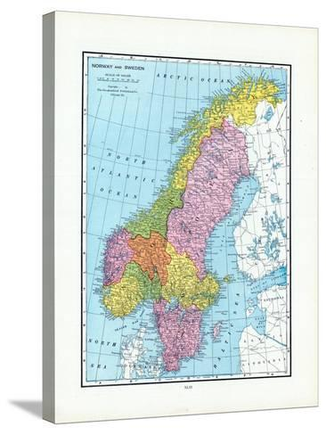 1925, Norway, Sweden, Europe--Stretched Canvas Print