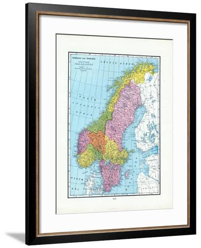 1925, Norway, Sweden, Europe--Framed Art Print