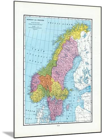 1925, Norway, Sweden, Europe--Mounted Giclee Print