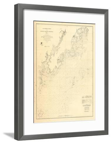 1864, St Georges River and Muscle Ridge Channel Chart Maine, Maine, United States--Framed Art Print