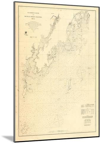1864, St Georges River and Muscle Ridge Channel Chart Maine, Maine, United States--Mounted Giclee Print