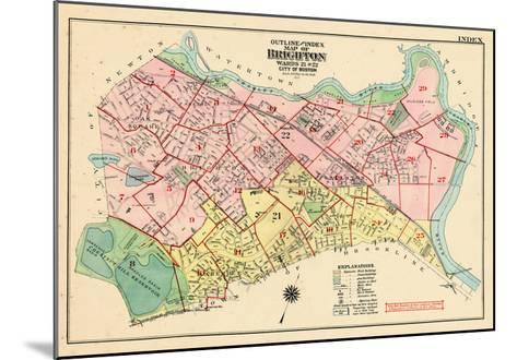 1925, Boston, Broghton, Massachusetts, United States--Mounted Giclee Print