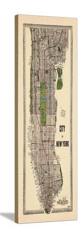 1949, Manhattan composite, 1949, New York, United States--Stretched Canvas Print