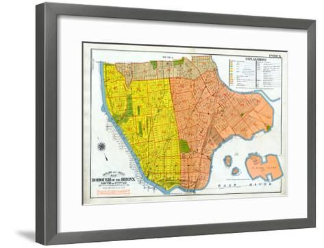 Bronx Index Map--Framed Art Print