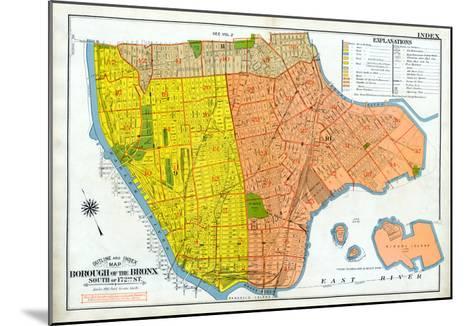 Bronx Index Map--Mounted Giclee Print