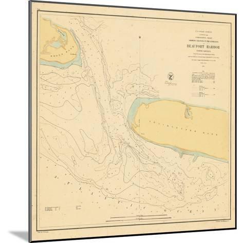 1857, Beaufort Harbor Chart North Carolina, North Carolina, United States--Mounted Giclee Print