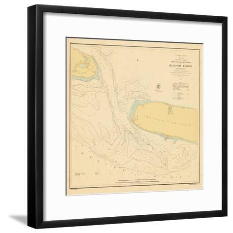 1857, Beaufort Harbor Chart North Carolina, North Carolina, United States--Framed Art Print