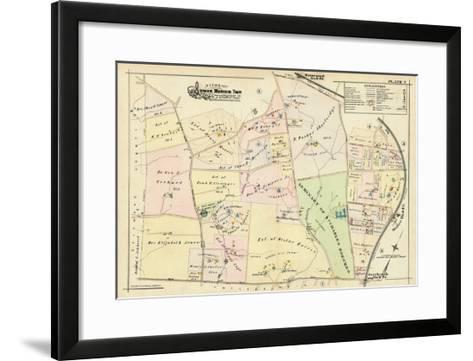 1896, Wynnewood Station, Overbrook Station, Pennsylvania, United Stat--Framed Art Print