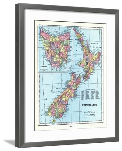 1898, New Zealand, Tansania, New Zealand and Tasmania--Framed Art Print