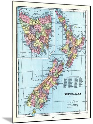 1898, New Zealand, Tansania, New Zealand and Tasmania--Mounted Giclee Print