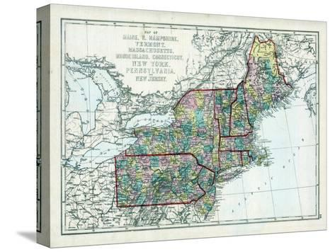 1873, Maine, New Hampshire, Vermont, Massachusetts, Rhode Island, Connecticut, New York, USA--Stretched Canvas Print