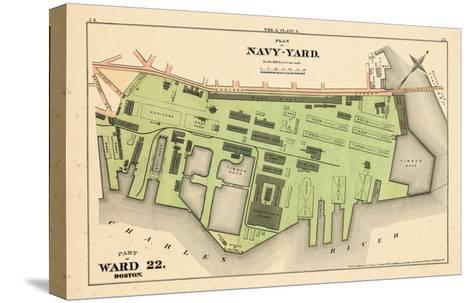 1875, Boston, Navy Yard, Charleston, Massachusetts, United States--Stretched Canvas Print