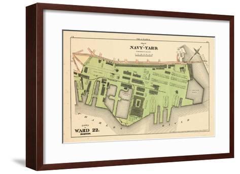1875, Boston, Navy Yard, Charleston, Massachusetts, United States--Framed Art Print