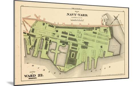 1875, Boston, Navy Yard, Charleston, Massachusetts, United States--Mounted Giclee Print