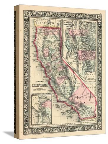 1864, United States, California, Utah, North America, California, Great Salt Lake Country--Stretched Canvas Print