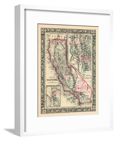 1864, United States, California, Utah, North America, California, Great Salt Lake Country--Framed Art Print