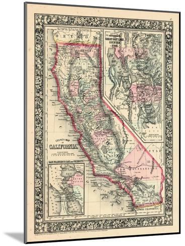 1864, United States, California, Utah, North America, California, Great Salt Lake Country--Mounted Giclee Print