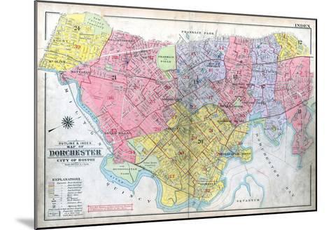 1918, Boston, Dorchester, Massachusetts, United States--Mounted Giclee Print