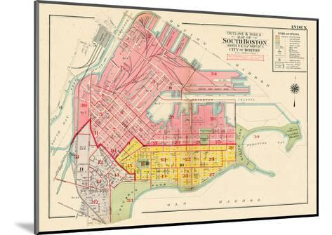 1919, Boston, South Boston, Massachusetts, United States--Mounted Giclee Print