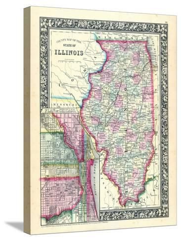 1864, United States, Illinois, North America, Illinois, Chicago--Stretched Canvas Print