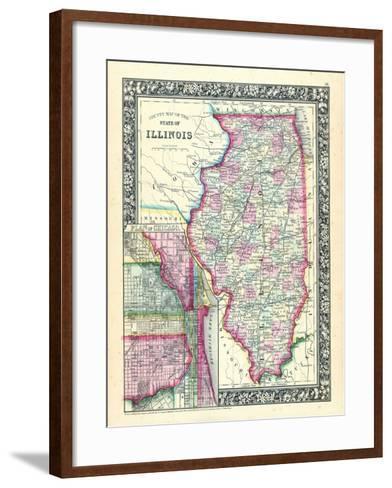 1864, United States, Illinois, North America, Illinois, Chicago--Framed Art Print