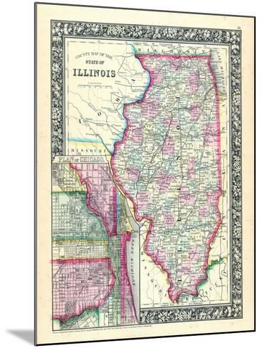 1864, United States, Illinois, North America, Illinois, Chicago--Mounted Giclee Print