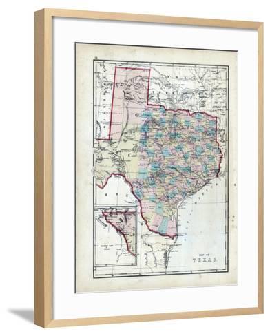 1873, Texas, USA--Framed Art Print