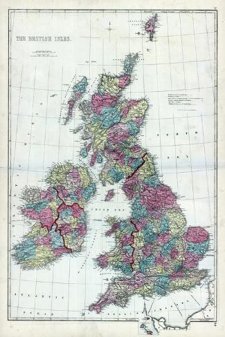 1873, The British Isles, England--Stretched Canvas Print